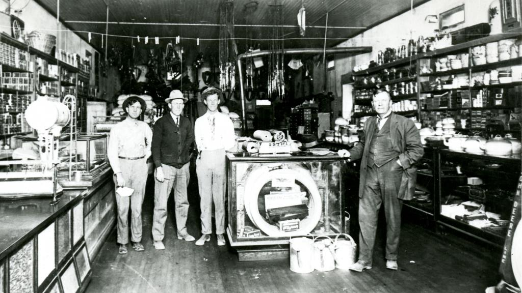 Photograph of Men at Thatcher Implement and Mercantile Company, circa 1914
