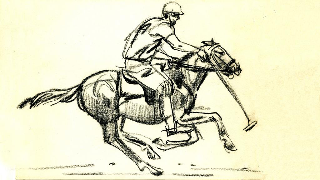 Drawing of a Polo Player, 1964
