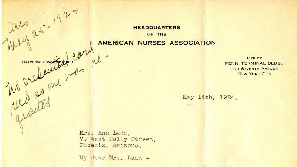 Letter to Ann Ladd from Agnes G. Deans, May 14, 1924