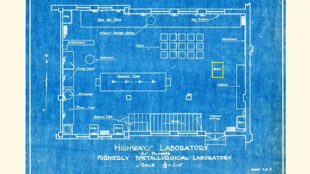 University of Arizona Highways Laboratory Blueprint, circa 1939