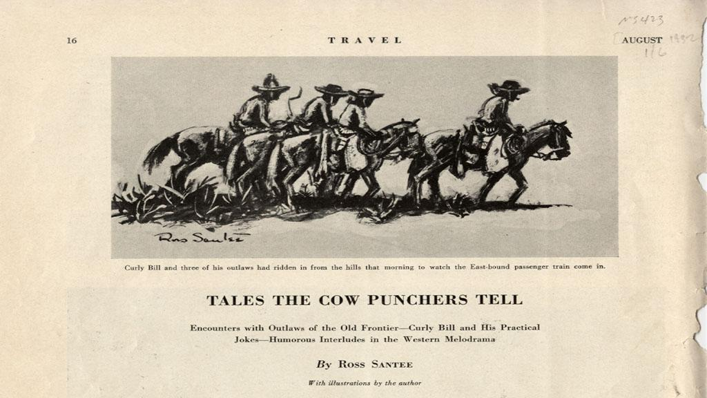 Advertisement for Tales the Cow Punchers Tell by Ross Santee, 1932