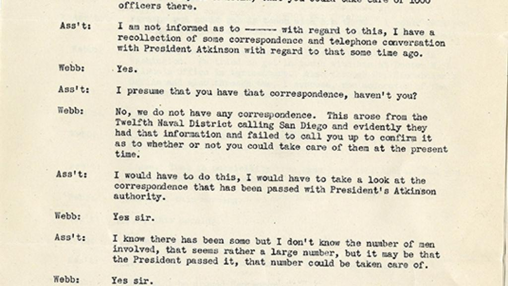 Telephone Conversation Transcript | Special Collections