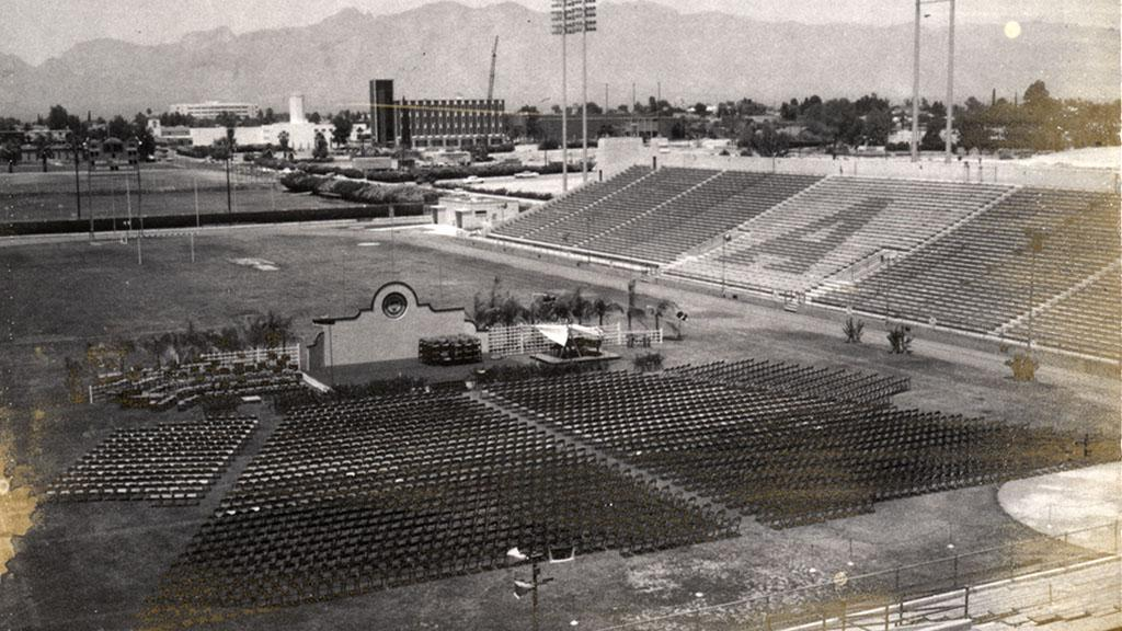 Photograph of 1968 Commencement Layout Looking Northeast