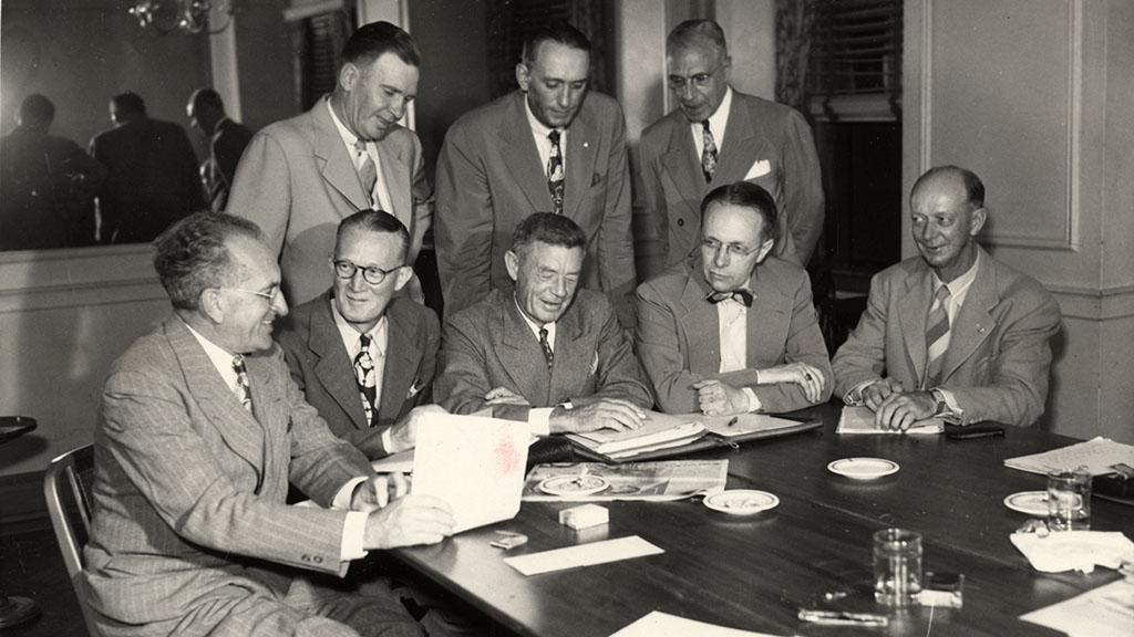 Photograph of National Association of Football Commissioners, undated
