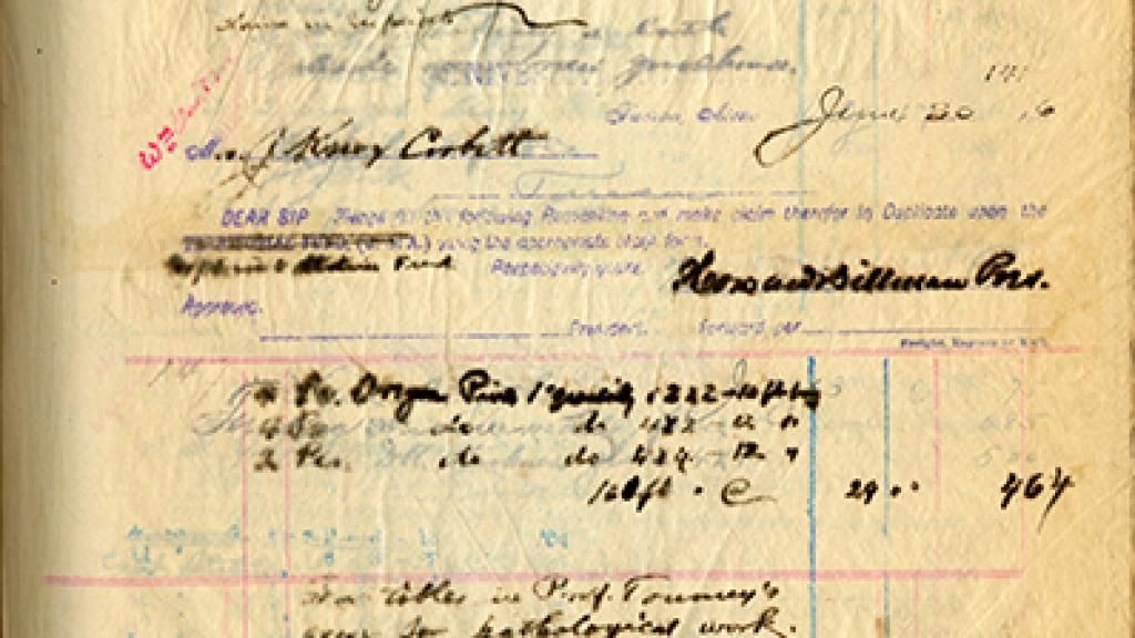Page of Requisition Book