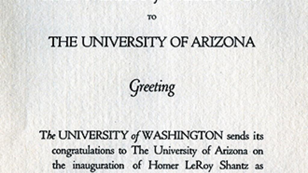 Message to UA from the University of Washington