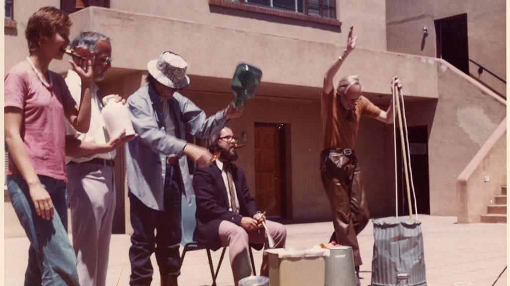Photograph of University of Arizona Library School Jug Band, circa 1980