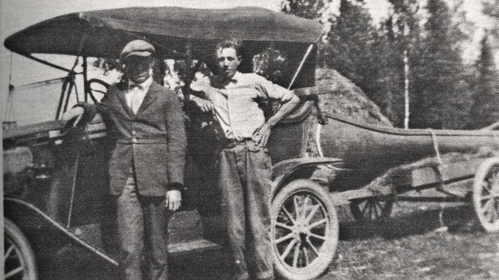 The Disreputables Leland and Jimmy Blair on a Camping Trip, undated