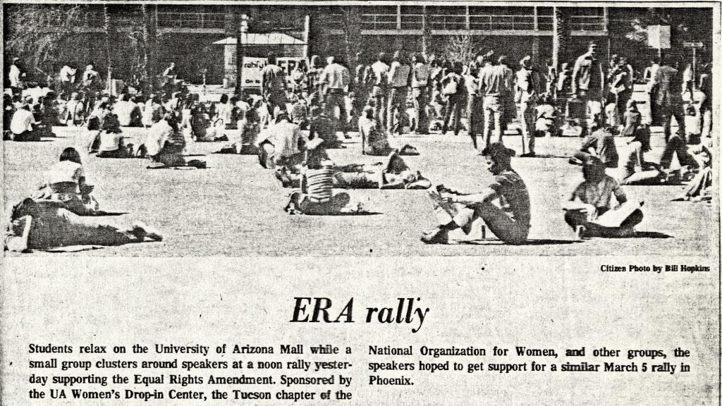 ERA Rally on UA Mall, 1977