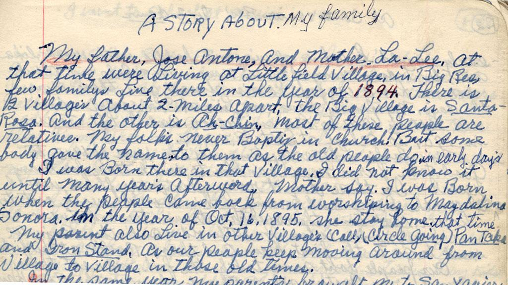 A Story About My Family by James McCarthy, circa 1985