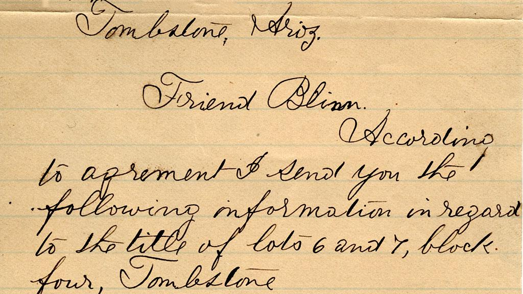 Letter to L.W. Blinn from L.B. Comstock, 1885