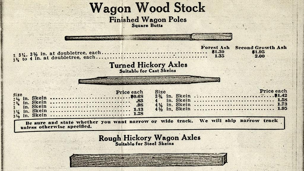 Wagon Parts Catalog from Cray Brothers, Cleveland, OH, March, 1910