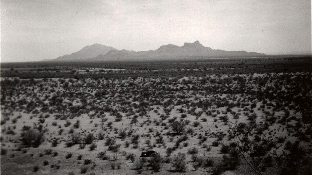 View of Picacho Peak and Surrounding Mountains, 1938