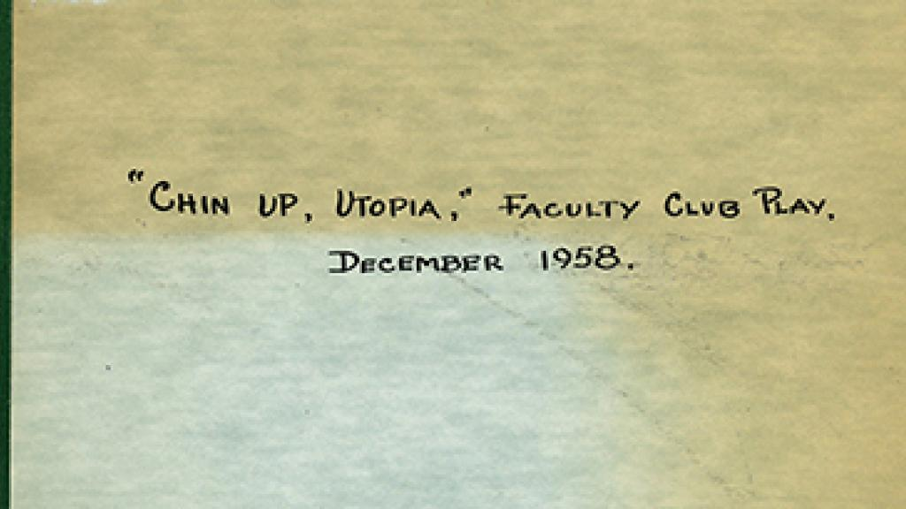 "Cover of ""Chin Up, Utopia"""