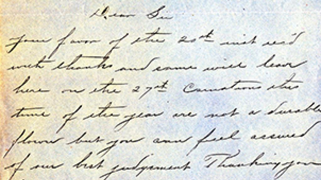 Correspondence from Morris Golderman