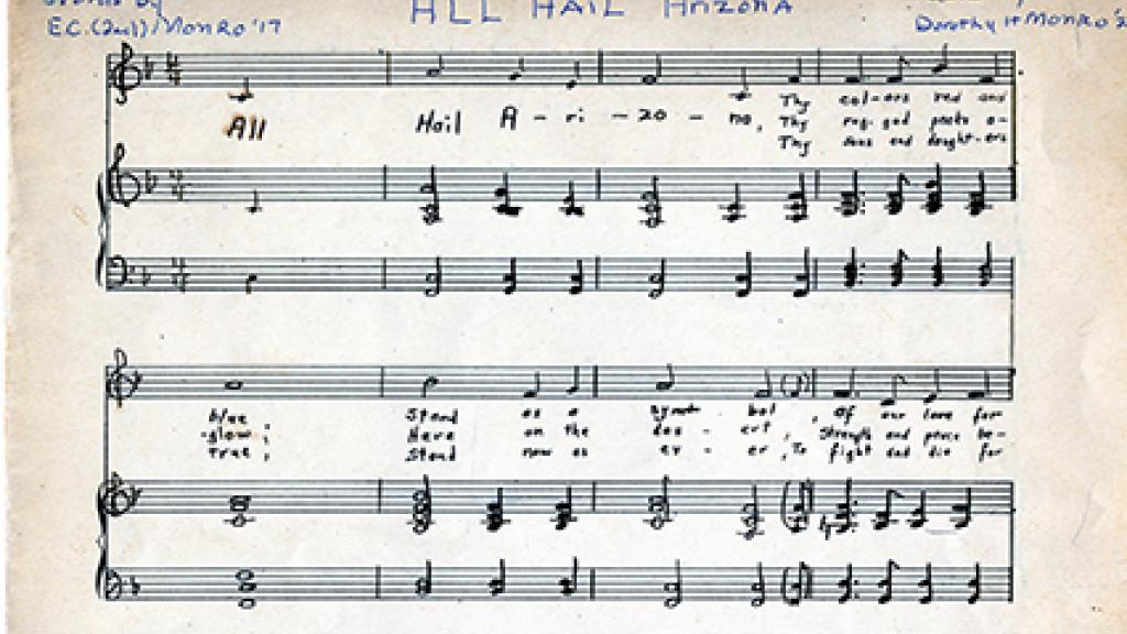 Vocal Score of All Hail Arizona