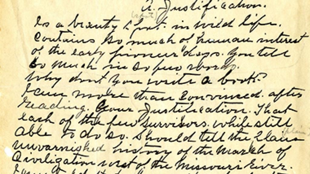 Letter written by William F. Cody (Buffalo Bill)