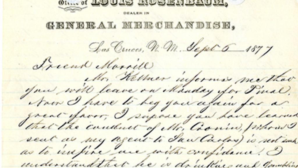 Correspondence from Rosenbaum to a Friend
