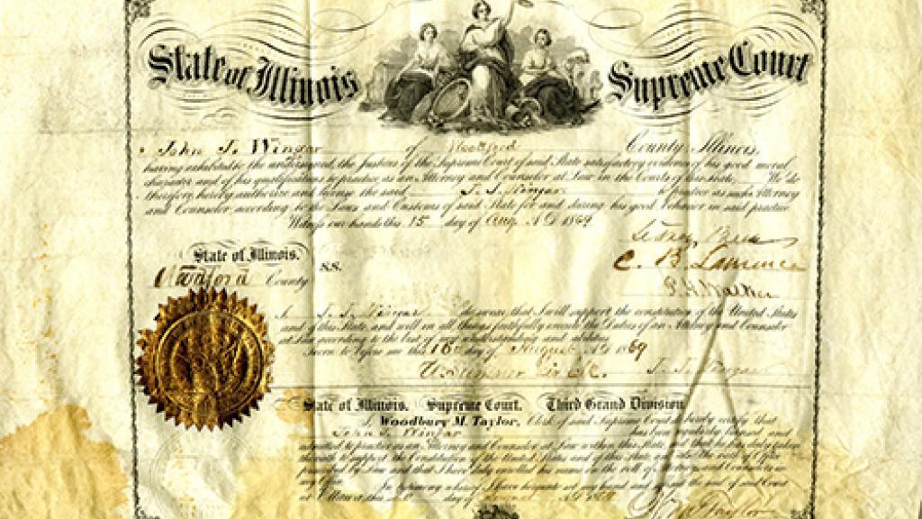 State of Illinois Supreme Court Certificate