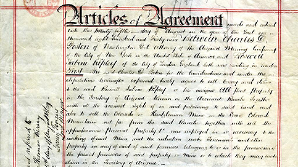 Articles Of Agreement Special Collections