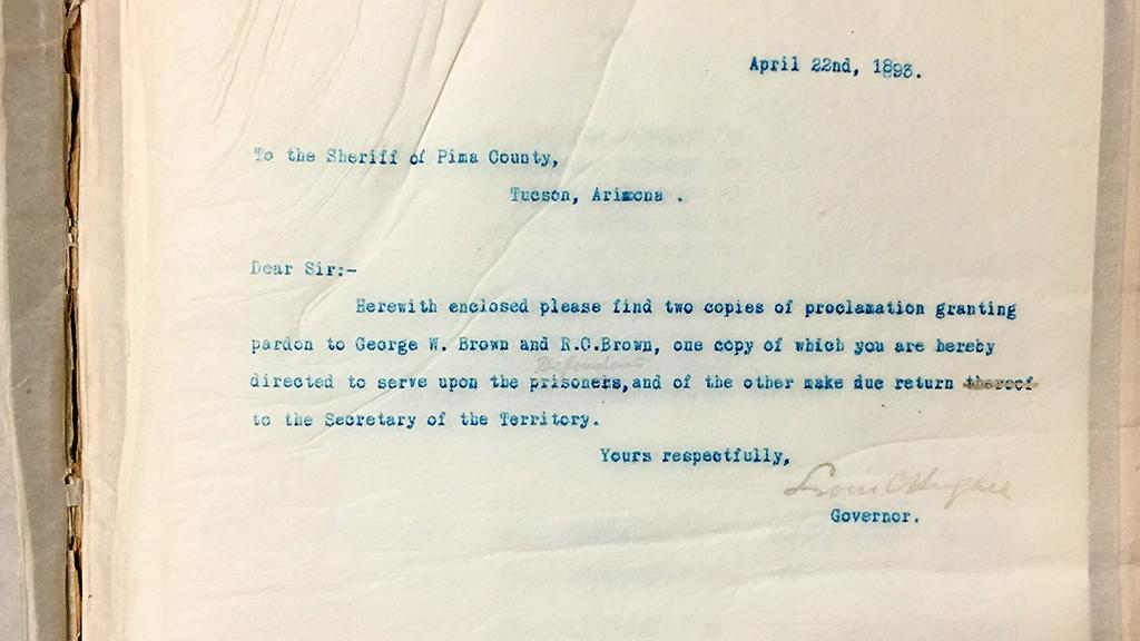 Copy of Letter from Hughes