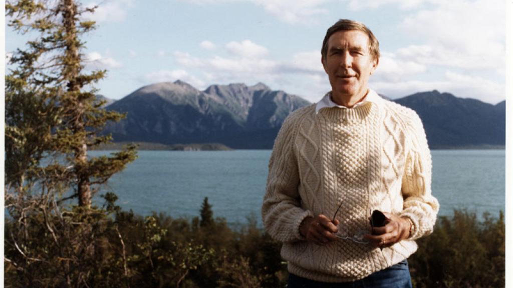 Photo of Morris K. Udall in Alaska