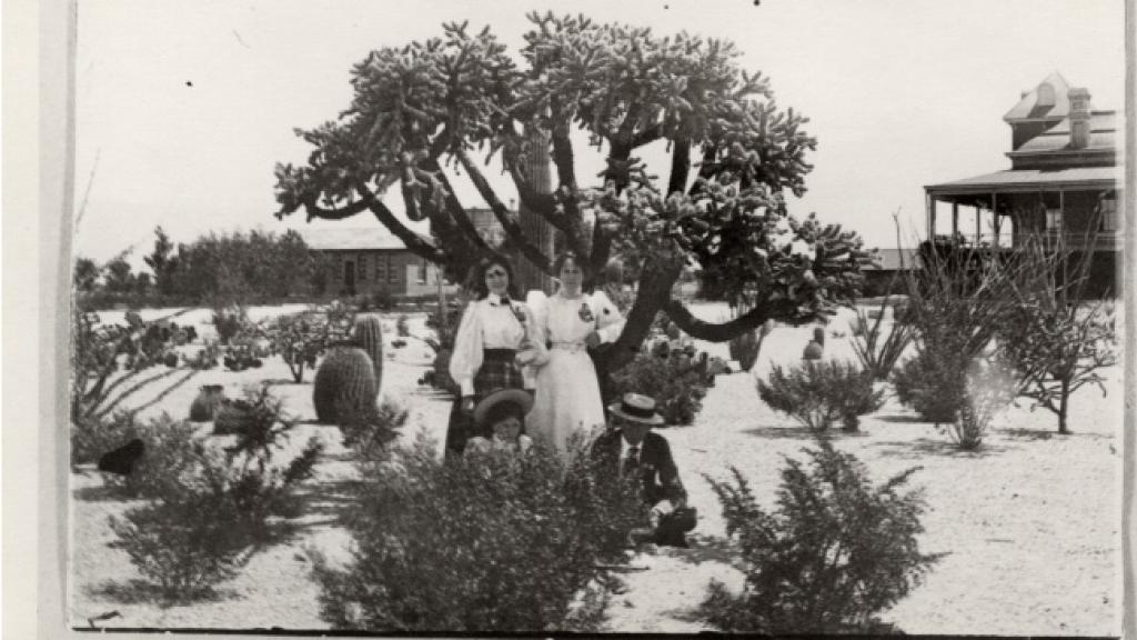 Students Posing in Cactus Garden, circa 1890