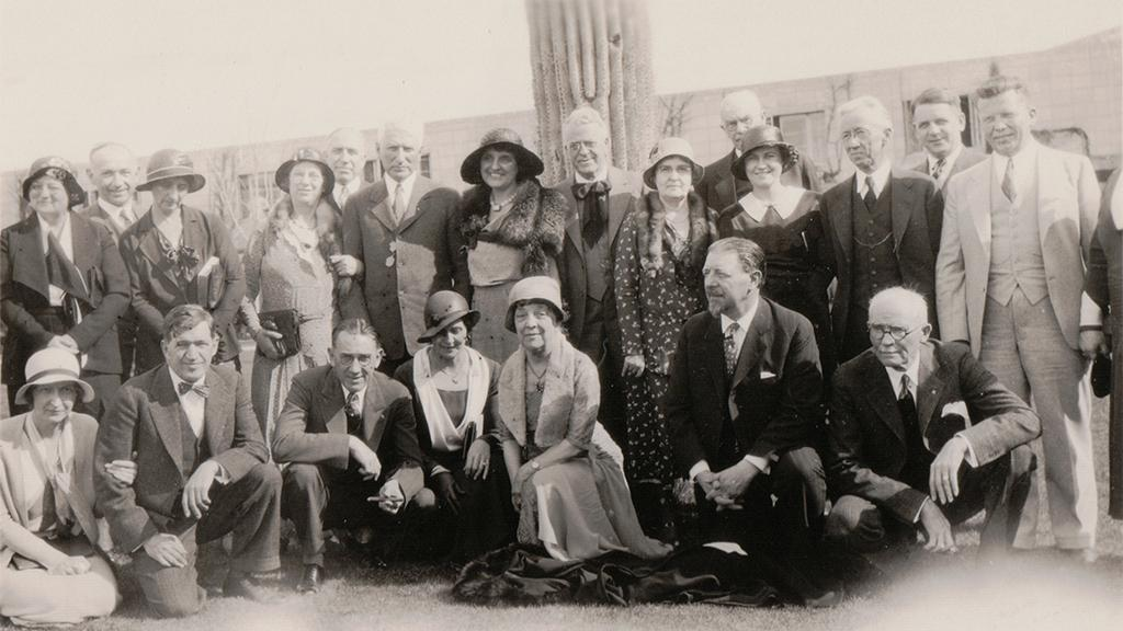 Photograph. Dr. Palmer with his colleagues and their spouses, undated
