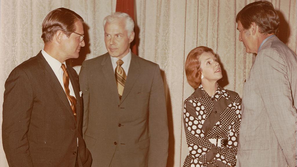Merlin Kearfott DuVal with Morris K. Udall, 1970s