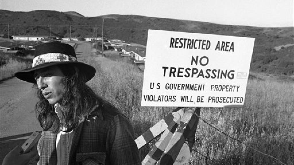 Photo of American Indian Movement Occupation of Alcatraz