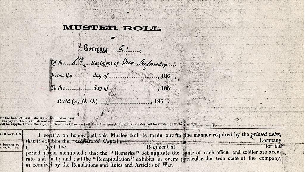 Muster Roll of Company II, undated