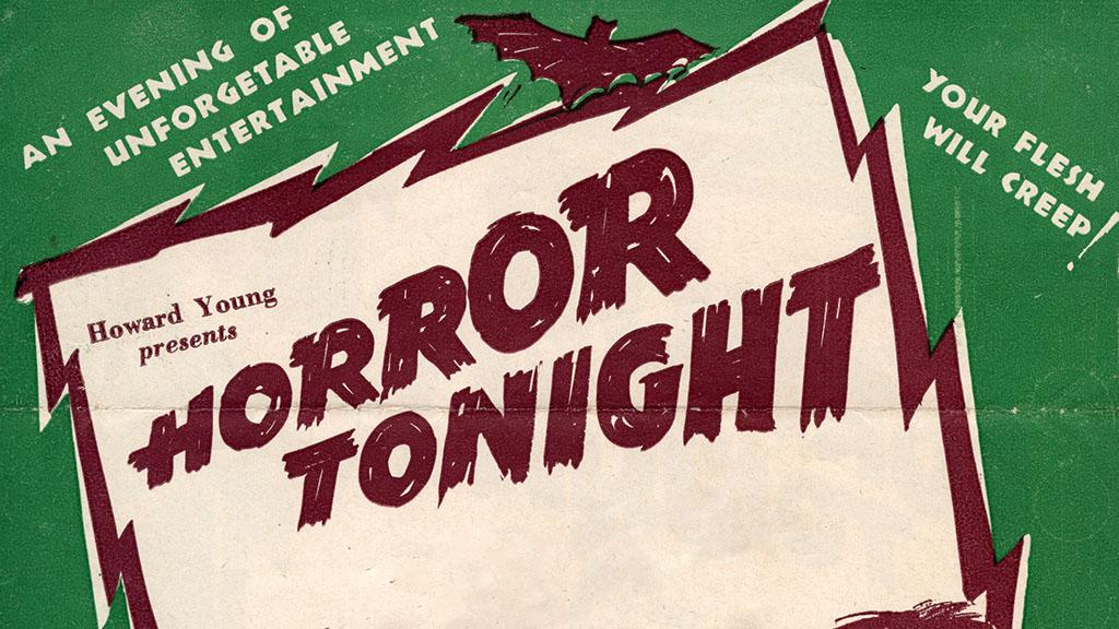 Horror Tonight Promotional Flyer, 1943
