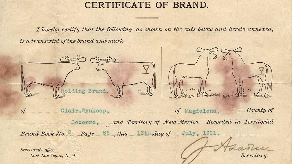 Certificate of Brand, 1901