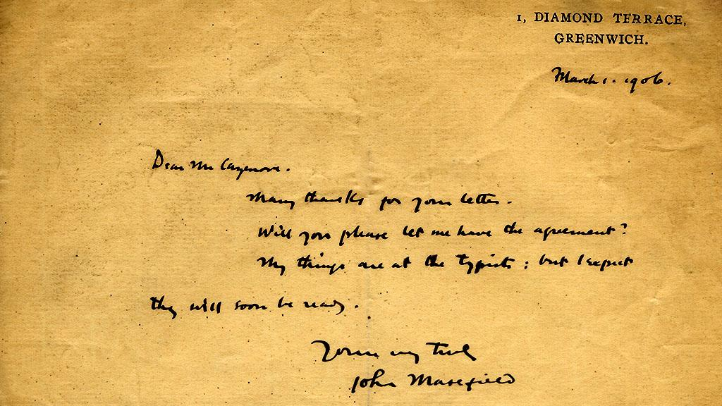 Letter to Georgque Cazenoue, March 1, 1906