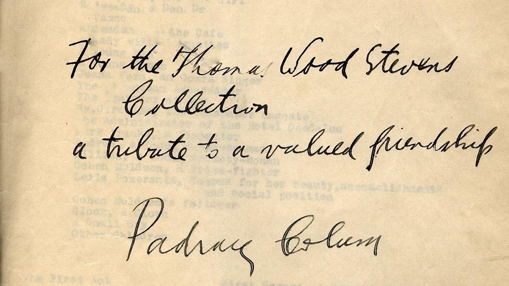 Inscription on page 1 of Balloon, circa 1929