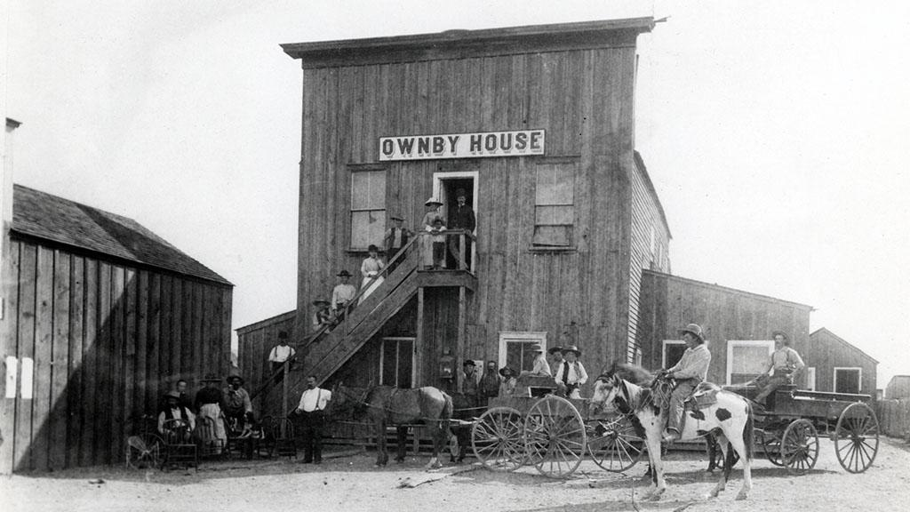 Photograph of the Ownby House, circa 1885