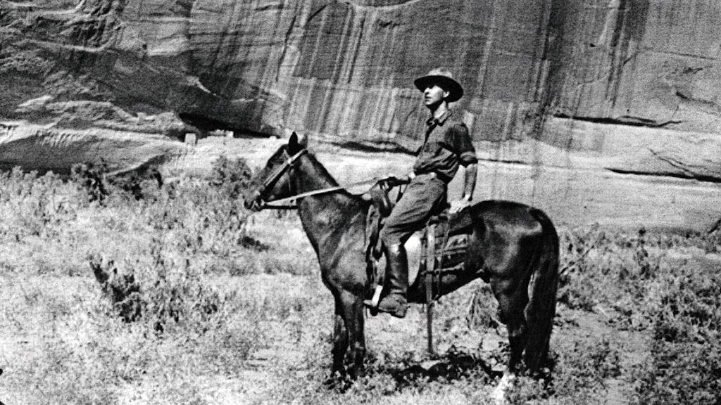 Pierre Lecomte du Noüy on Horseback in Canyon de Chelly, AZ, 1922