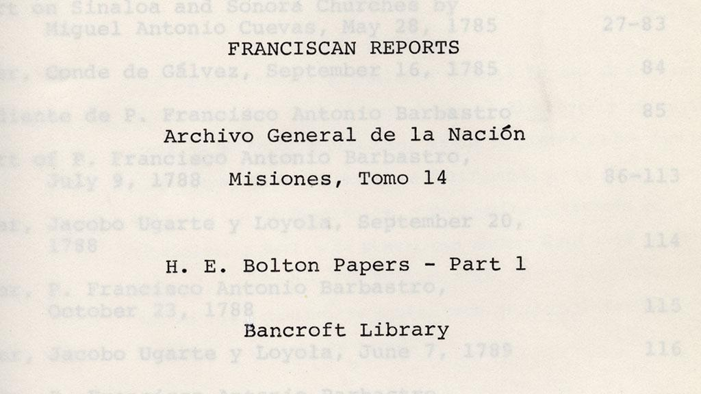Franciscan Reports Title Page