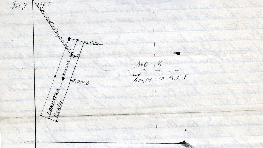 Location of the Lone Star Lode Mining Claim, 1885