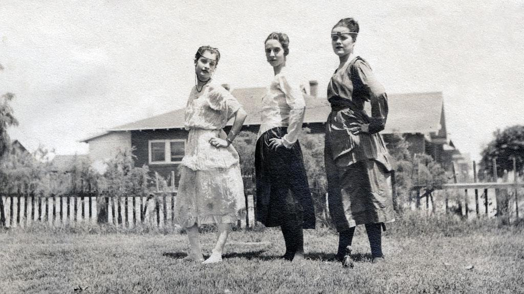 Costumed Women Standing in a Field, undated