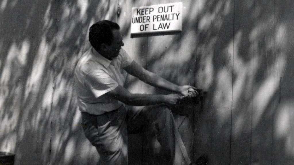 Photograph of Charles Bukowski, 1962