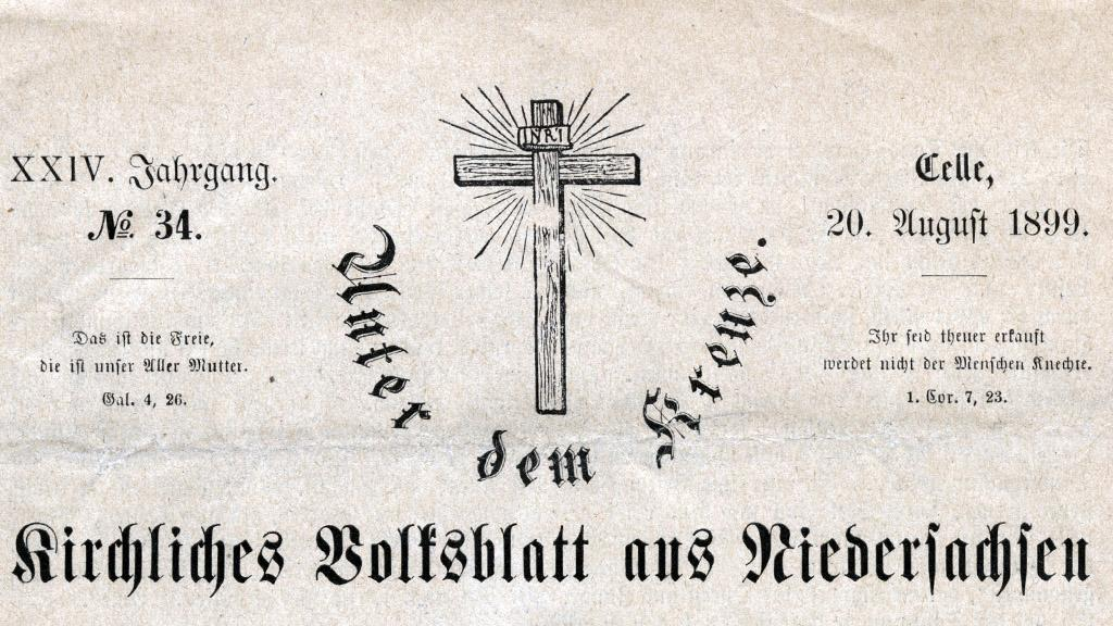 Masthead of Lutheran Newspaper, 1899