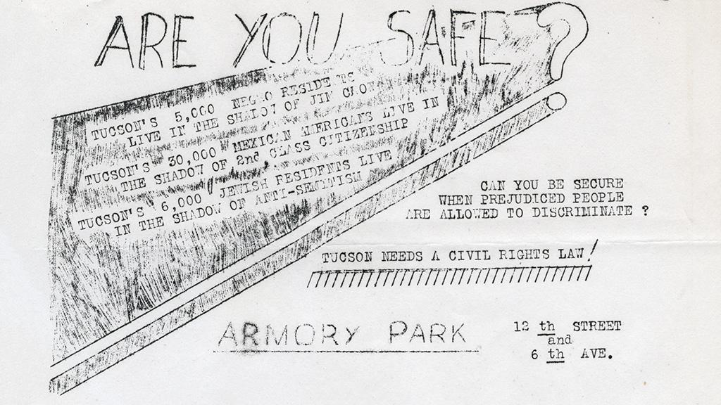 Civil Rights Rally Flyer, 1949
