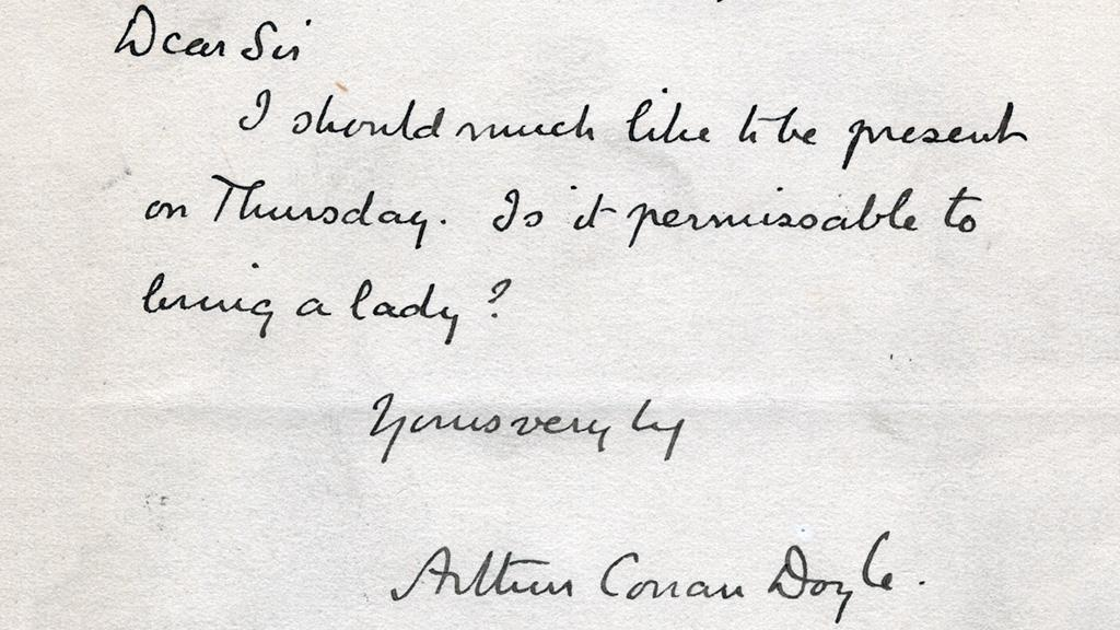 Memorial Correspondence from Sir Arthur Conan Doyle to William Ernest Henley, undated