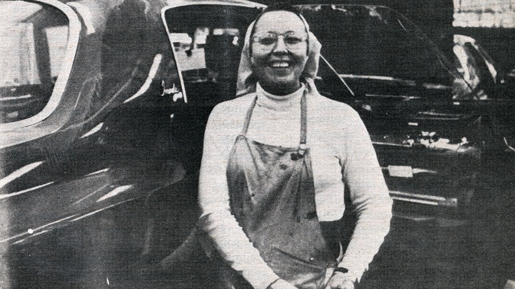 The First Woman to Break into Formerly Male-Only Assembly Line at Oshawa GM Plant, 1971