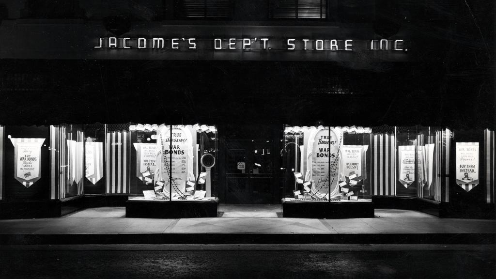 Storefront of Jacome's Department Store, undated