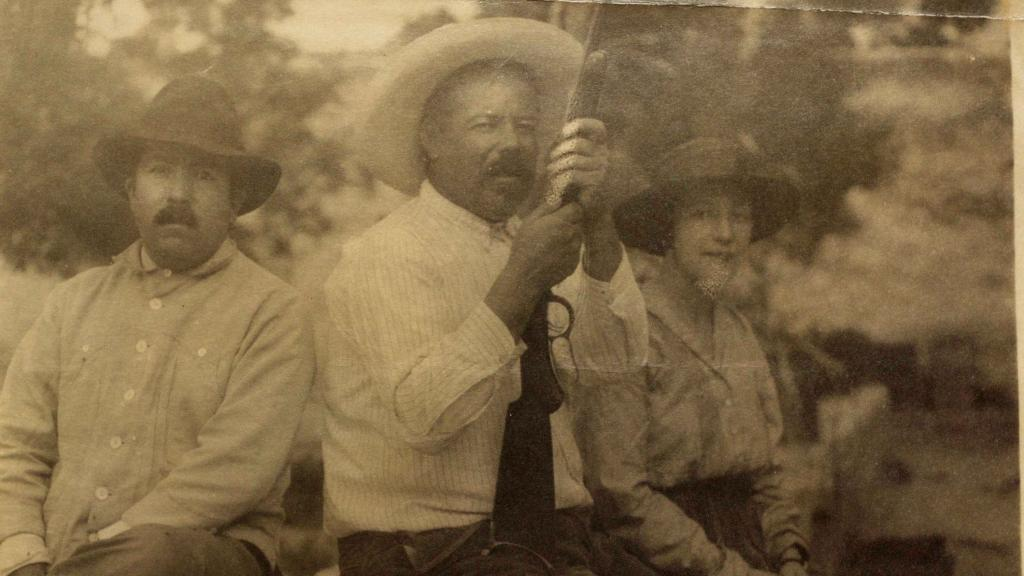 Sophie Treadwell Seated with Pancho Villa, 1920