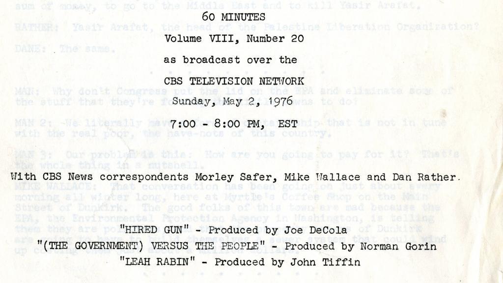 60 minutes script