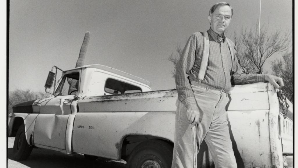 Paul S. Martin at Tumamoc Hill Desert Lab, 1990