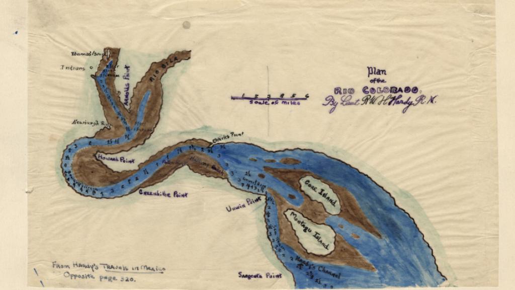 Plan of the Rio Colorado, undated